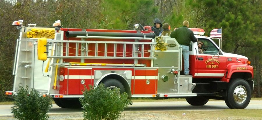 12 December 2009 Smokey Road Parade: Crawford&#8217;s Pumper, Engine 1